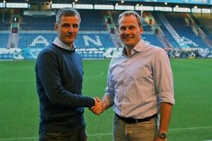 Der neue Chef-Trainer des F.C. Hansa Rostock Jens Härtel (links) und Sportvorstand Martin Pieckenhagen (Foto: F.C. Hansa Rostock)