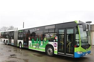 RSAG testet XXL-Bus im Stadtgebiet (Foto: Rostocker Straßenbahn AG)