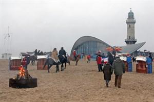 Strandfeuer beim Warnemünder Wintervergnügen