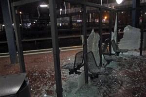 Vandalismus am S-Bahnhaltepunkt Lichtenhagen (Foto: Bundespolizeiinspektion Rostock)