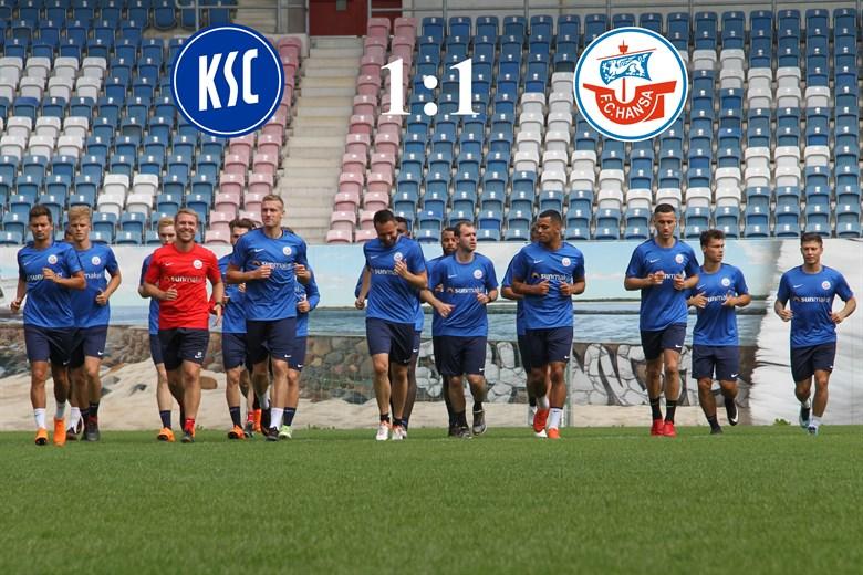 Hansa Rostock und der Karlsruher SC trennen sich 1:1