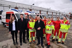Vier neue Rettungsdienstfahrzeuge für Rostock (Foto: Joachim Kloock)