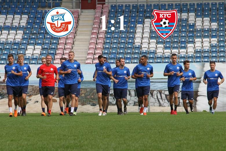 Hansa Rostock trennt sich von Uerdingen mit 1:1