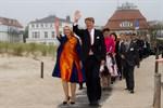 Niederländisches Königspaar in Warnemünde