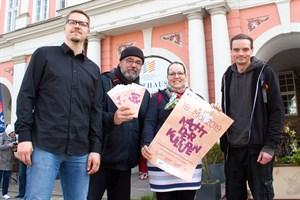 Thomas Fanter, Matthias Siems, Anke Brauer und Andreas Schwarz haben die Nacht der Kulturen 2019 vorbereitet.