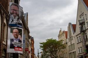 Bei der OB-Wahl 2019 in Rostock kommt es zu einer Stichwahl zwischen Claus Ruhe Madsen (Einzelbewerber) und Steffen Bockhahn (Die Linke)