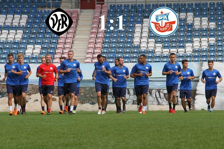 Hansa Rostock trennt sich von Aalen 1:1