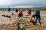 1. Sandburgenwettbewerb in Warnemünde