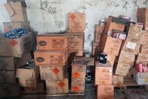 2.000 kg Feuerwerkskörpern nach Brand in Steffenshagen sichergestellt (Foto: Polizei)
