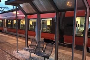 Jugendliche verwüsten S-Bahn-Haltepunkt Bramow (Foto: Bundespolizeiinspektion Rostock)
