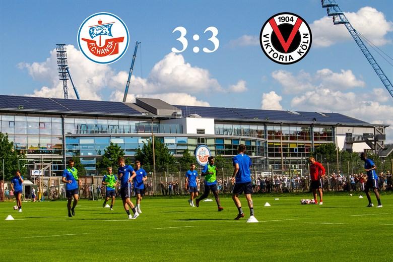 Hansa Rostock und Viktoria Köln trennen sich 3:3