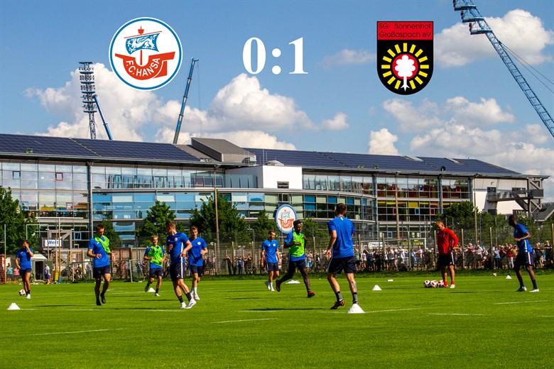 Hansa Rostock unterliegt Sonnenhof Großaspach mit 0:1