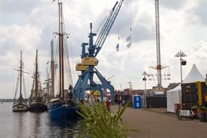 Das erste Dreierpack hat im Stadthafen zur Hanse Sail 2019 festgemacht