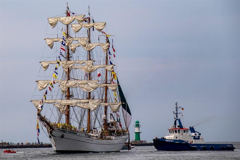 Hanse Sail 2019: Open-Ship auf Segelschulschiffen
