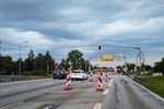 Baustelle auf Stadtautobahn führt zu Verkehrseinschränkung
