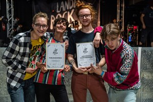 Nachwuchsband des Jahres beim Landesrockfestival MV 2019: Animal's Secret (v.l. Lennart, Raoul Biedinger, Jonas Brümmer, Anton Willsch - Foto: Phillip Lehner/PopKW)