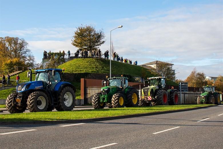 Trecker-Demo – Bauernprotest gegen Agrarpolitik
