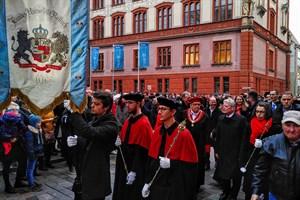 600 Jahre Universität Rostock - Festumzug vom Hauptgebäude zur Marienkirche