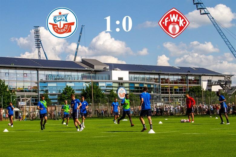 Hansa Rostock besiegt die Würzburger Kickers mit 1:0