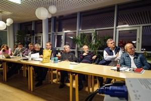 Letzte Sitzung des Ortsbeirats Warnemünde/Diedrichshagen in aktueller Zusammensetzung: Elisabeth Möser (v.l.), Axel Tolksdorff, Sven Klüsener, Jobst Mehlan, Alexander Prechtel, Horst Döring, Dieter Neßelmann, Mathias Stagat und Werner Fischer