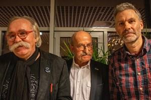 Der neue Vorsitzende des Ortsbeirats Warnemünde Dr. Werner Fischer (Mitte) mit seinen Stellvertretern Dr. Jobst Mehlan (links) und Stephan Porst (rechts)