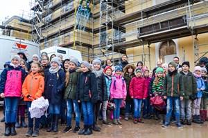 Richtfest an Heinrich-Heine-Grundschule in Warnemünde (Foto: KOE)