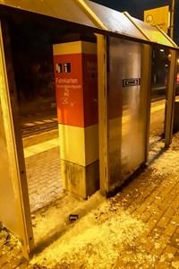 Vandalismus am S-Bahn-Haltepunkt Bramow