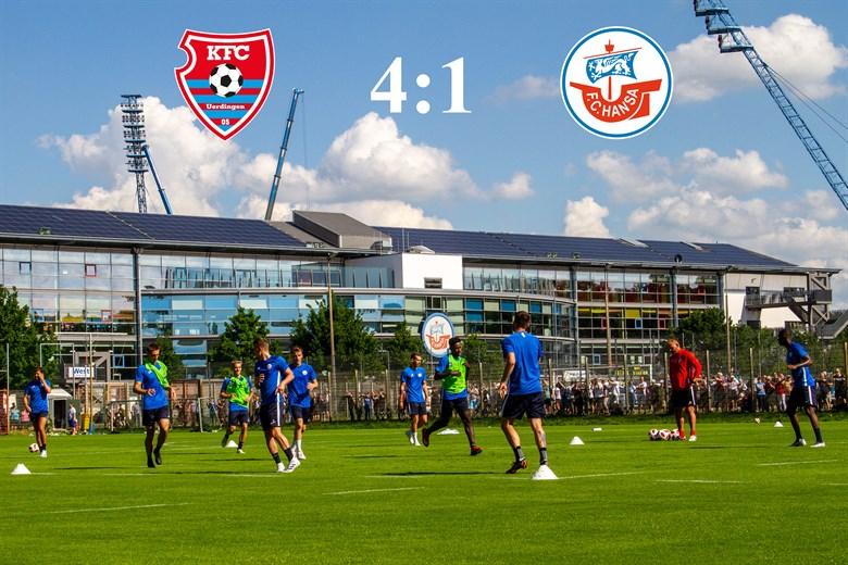 Hansa Rostock unterliegt Uerdingen mit 1:4