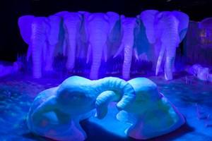 Elefanten aus Eis bei Karls in Rövershagen