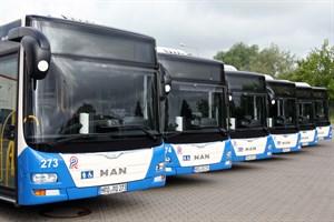 Neben den Dieselbussen verkehren in Rostock künftig auch Elektrobusse (Foto: Archiv)