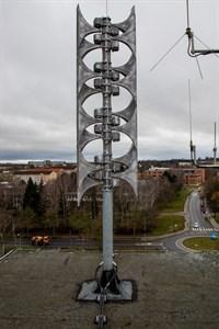 Eine der 19 Sirenen in Rostock