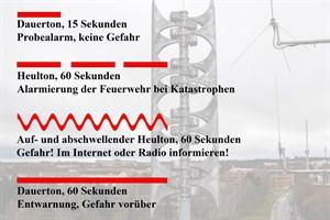 Bedeutung der Sirenensignale in Rostock