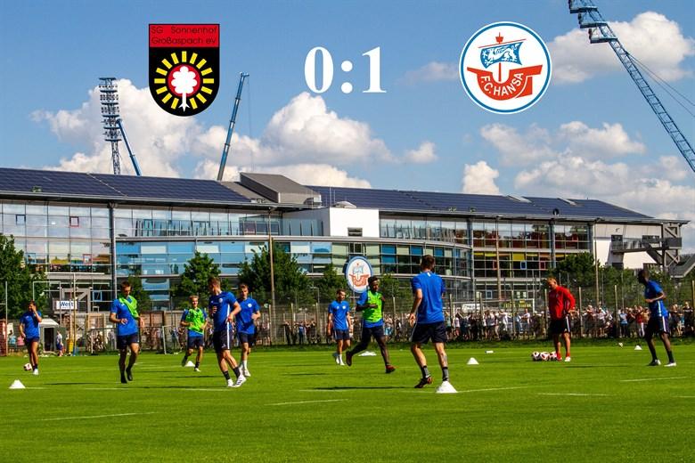 Hansa Rostock besiegt Sonnenhof Großaspach mit 1:0