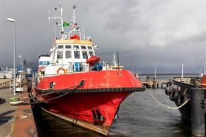 Das ehemalige Rostocker Feuerlöschboot FLB 40-3 soll als Traditionsschiff Fahrt aufnehmen