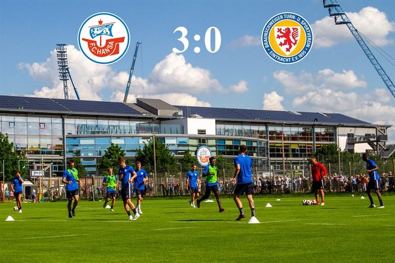 Hansa Rostock besiegt Braunschweig mit 3:0