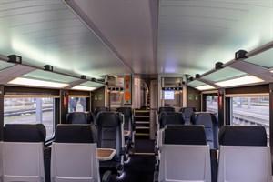 Innenansicht der neuen Intercity-Doppelstockzüge vom Typ Stadler KISS