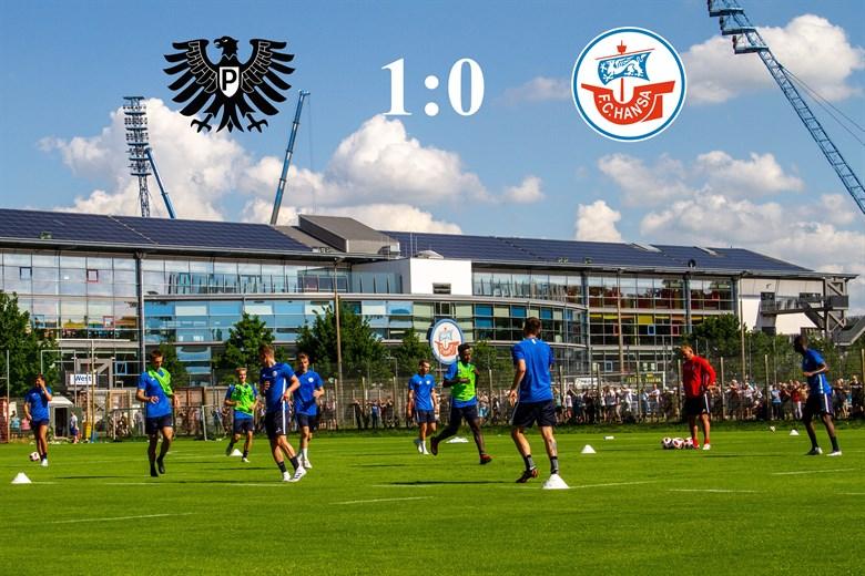 Hansa Rostock unterliegt Preußen Münster mit 0:1