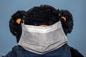 Maskenpflicht in MV auch beim Einkaufen (Symbolfoto mit gebrauchter Maske)