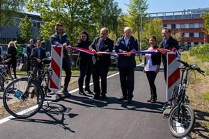 Erster Rostocker Radschnellweg am Südstadt-Campus eröffnet