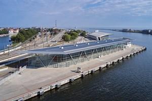 Das Kreuzfahrt-Terminal WCC8 in Warnemünde (Foto: ROSTOCK PORT/Nordlicht)