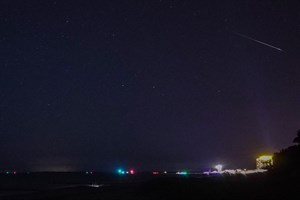 Perseiden-Sternschnuppen über Warnemünde