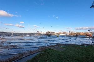 Land stellt Hochwasserschutz im Stadthafen Rostock infrage (Foto: Archiv)