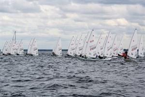 Fast 100 Boote gingen beim Laser Europa Cup Warnemünde an den Start. (Foto: WSC)