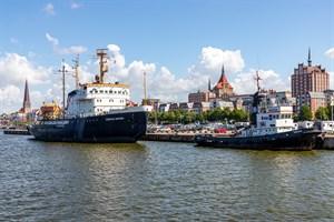 Ein möglicher Standort für die Markthalle in Rostock ist der Stadthafen, wo sie zur Buga 2025 als Blumenhalle dienen würde (Foto: Archiv)