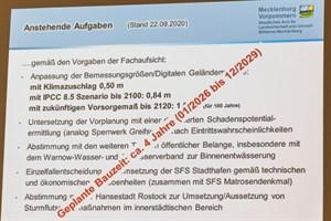 Bis zur Buga 2025 dürfte der Sturmflutschutz im Stadthafen Rostock nicht mehr zu schaffen sein