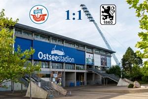Hansa Rostock und 1860 München trennen sich 1:1 (Symbolfoto: Archiv)