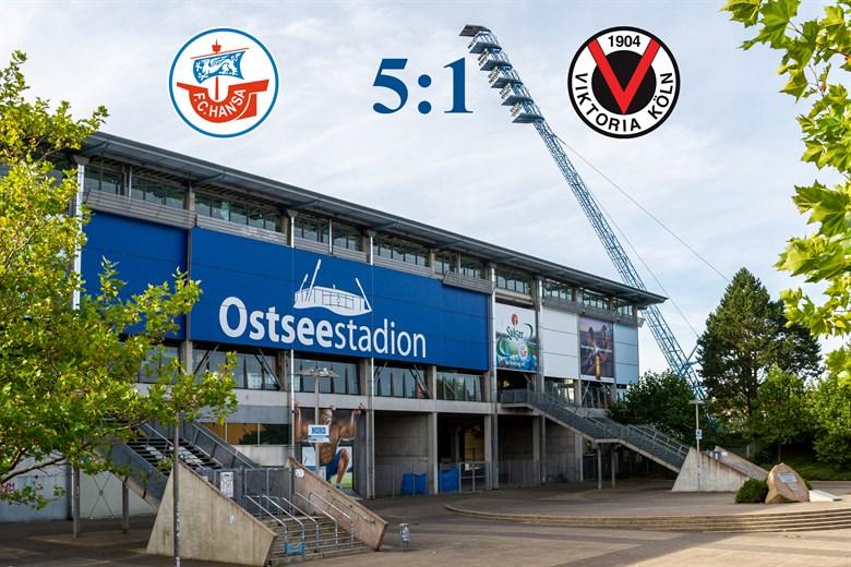 Hansa Rostock besiegt Viktoria Köln mit 5:1