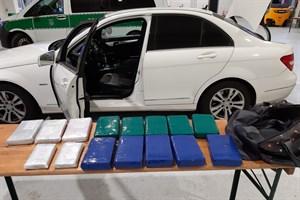 15 Kilogramm Kokain in Pkw im Seehafen Rostock gefunden (Foto: Hauptzollamt Stralsund)