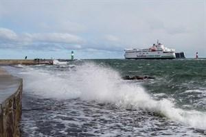 Sturmflutwarnung für die Ostsee am 14. Oktober 2020 (Foto: Archiv)