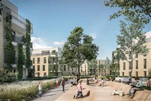 Die Wiro baut neues Wohnquartier in der Thierfelderstraße (Grafik: Planungsbüro Albert Wimmer ZT GmbH aus Wien, (c) ZOOMVP.AT)
